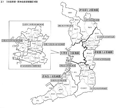 二次医療圏マップ